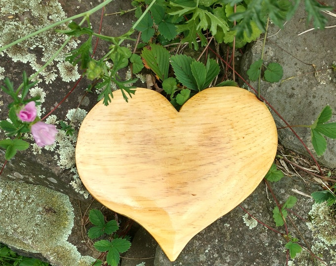 HEART of the HOME Wall Decor Carved in Pine Wood, House Warming Gift, Wedding Gift, Anniversary Gift, Rustic Home Decor, Wall Art