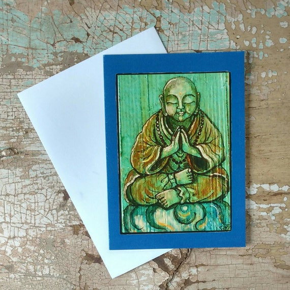 Buddhist Gift Set of 3 Different Cards Designed by Susana Caban Buddha Greeting Cards Blank Buddha Note Cards