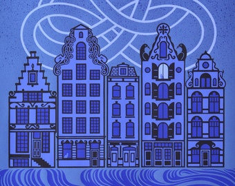 The Sleeping City - Limited edition five-colour screenprint
