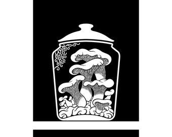 Curiosity Cabinet Series 4, No.2 (Oyster) - Limited edition, handmade silkscreen print
