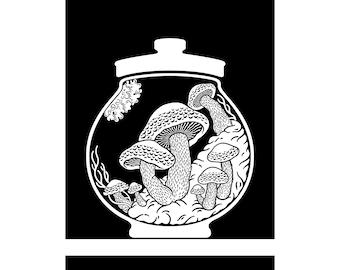 Curiosity Cabinet Series 4, No.6 (Shiitake) - Limited edition, handmade silkscreen print