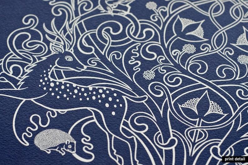 Forest Fauna  Limited edition handmade silkscreen print image 0