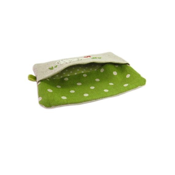 Pocket Tissue Pouch//Holder//Case Blue Scottie Dog  NEW