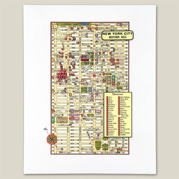 New York Manhattan Midtown Archival Print Giclee 1950 Vintage Map Theaters Manhattan Hotels Map on manhattan bridge map, manhattan ny map, manhattan bus map new york, manhattan area map, manhattan airport map, manhattan metro map, manhattan transportation map, manhattan hospital map, manhattan guide map, nyc manhattan map, times square nyc map, nyc real estate map, manhattan street map, hotels near jfk airport map, manhattan parking map, manhattan cruise port map, manhattan building map, manhattan heat map, manhattan island map,
