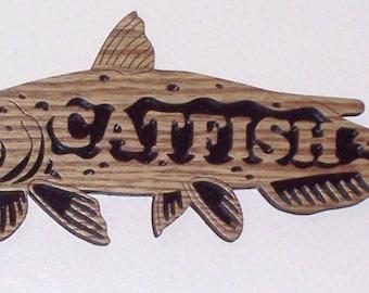Catfish scroll saw woodworking cutting--3fr