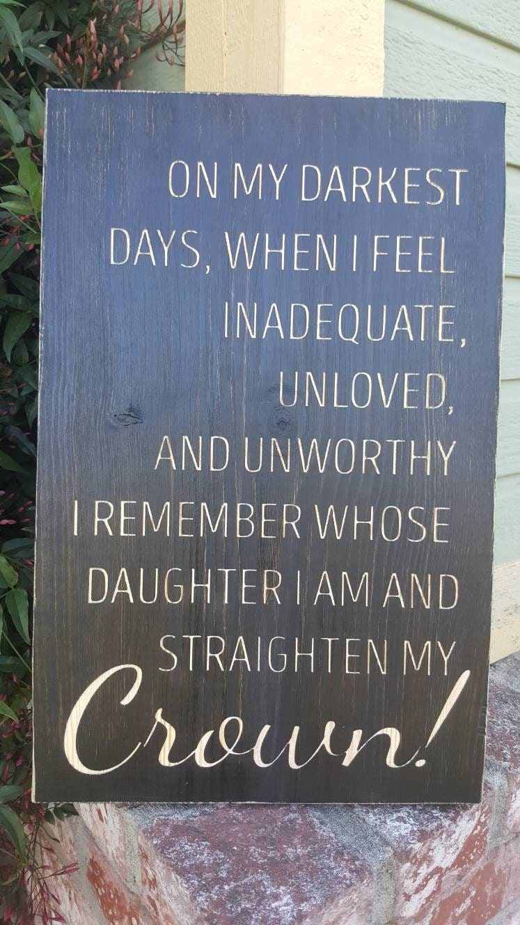 Mothers Day Wood Sign Gift Home Wall Decor I Remember Whose