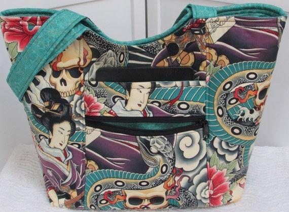 Tatouage Asiatique Tote Bag Zen Charmeur Tote Sac Japonais Inspire