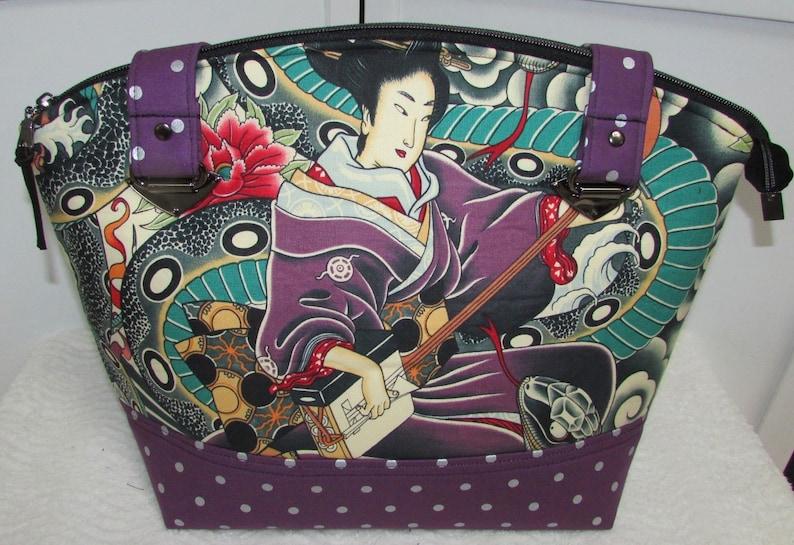 9959e6a6112 Zen Charmer Handbag Asian Tattoo Zippered Tote bag Alternative Fashion  Shoulder Bag Ready To Ship