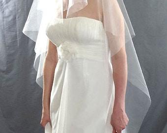 Cascade Drop Veil, Wedding Veil, Floor Length Bridal Veil