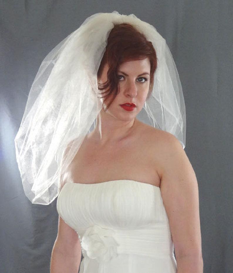 Bubble Veil  Bubble Bridal Veil Short Veil image 0