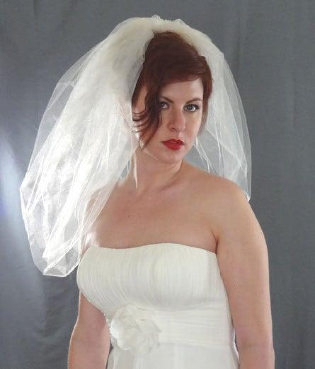 Wedding Veils Styles: Bubble Veil, Bubble Bridal Veil, Short Veil