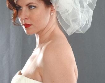 Wedding Veil, Bridal Pouf, Couture Veil, Pouf Veil