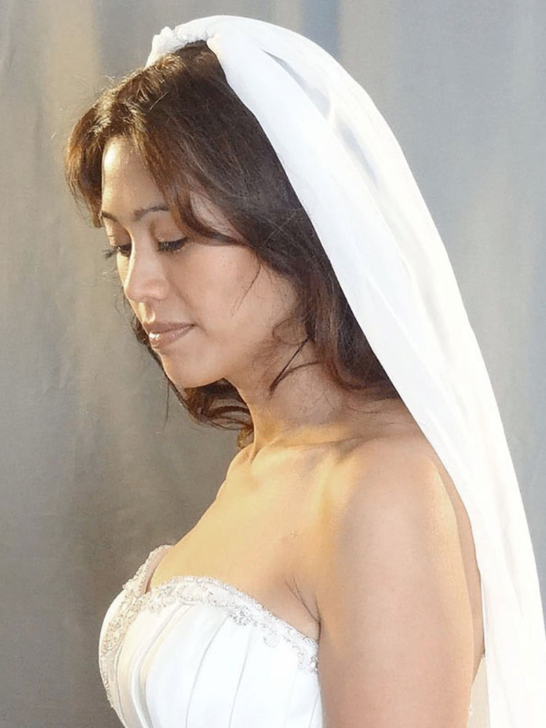 Silk Chiffon Wedding Veil Bridal Veil Soft Veil  MADE TO image 0