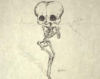 Betty Boop Skeleton Print 8x10