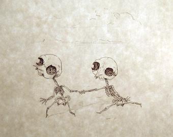 Thingumy & Bob Skeleton Print 8x10