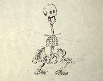 Shmoo Skeleton Print 8x10