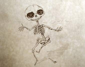 Snufkin Skeleton Print 8x10
