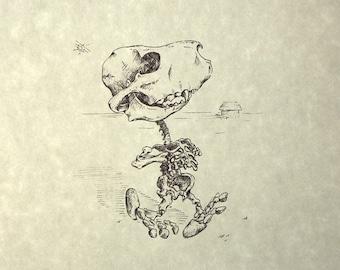 Snoopy Skeleton Print 8x10