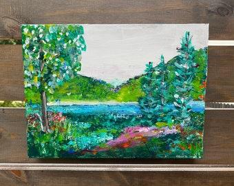 LANDSCAPE painting, abstract landscape,original art, 12 x 16 gallery wrapped canvas, landscape art