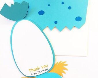 Dinosaur Birthday Thank You Cards. Baby Boy Birthday Thank You. DIY Dinosaur Card Set. Dino Egg. Dinosaur Party Theme. Dinosaur Thank You