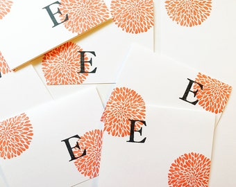 Custom Stamped Bright Stationery. Personalized Initial Notecard. Gift for Teen Girl. Inked Letter Cards. One of a Kind Gift for Her Under 30