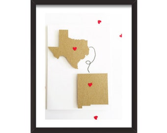 Long Distance Mom Gift. Personalized Long Distance Gift. Home & Living. Wedding Couples Gift. Home Decor. Wall Art. Long Distance Love Print