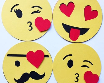 Emoji Birthday DIY Kit. Classroom Birthday for Kid Party. Birthday Tag Set. Emoji Party Favor. Emoticon Birthday. Hashtag Happy Birthday