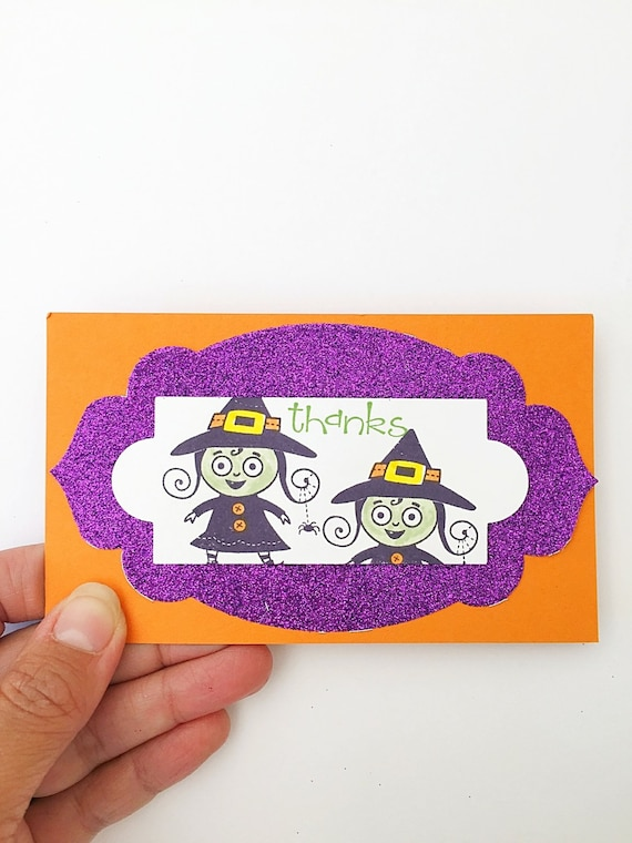 Halloween thank you card-halloween kid birthday thank you card,kids halloween thank you card,halloween party thank you card,last minute gift