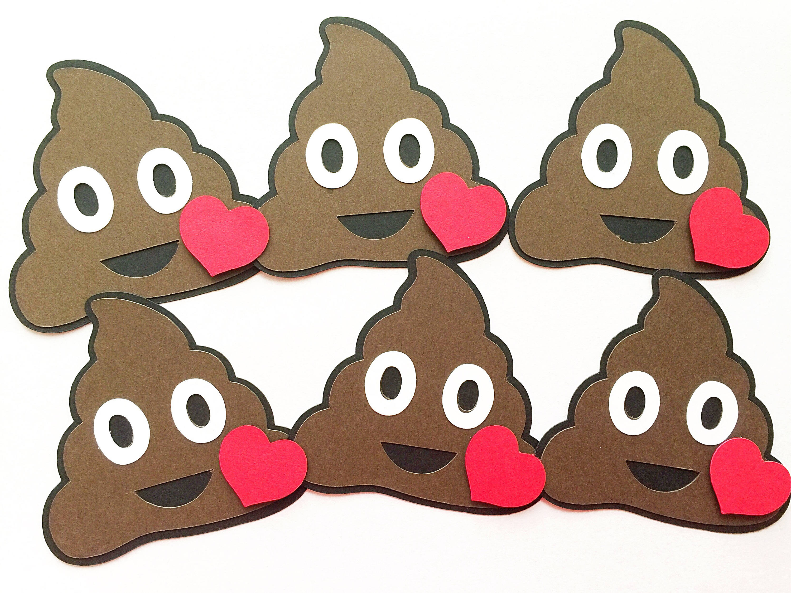 Poop Emoji Birthday DIY Kit Set Of 4 Classroom Kids