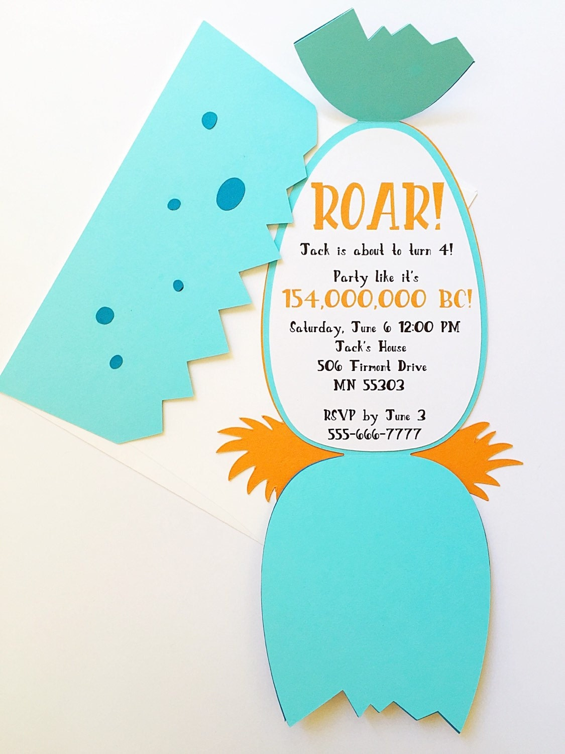 Dinosaur birthday invitationboy birthday invitations dinosaur