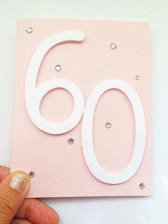 3D Pop Up Birthday Card. 60th Birthday Card. Age 60 Card. 60 3D Birthday Card. Sixty. Sixtieth Husband, Aunt, Sister, Cousin Birthday Card