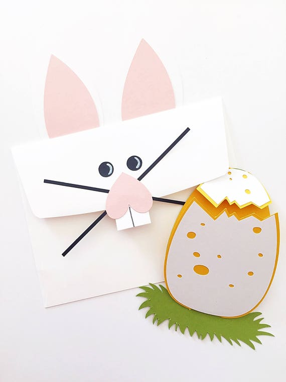 Cute Easter Bunny Card. Easter Egg Card. Easter Basket Stuffer. Easter Card For Kids. Easter Card For Grandparents. Baby's First Easter Card