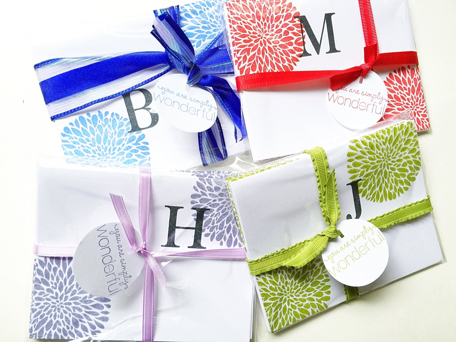Best Bridesmaid Gift  Affordable gift  Colorful Initial Girlfriend