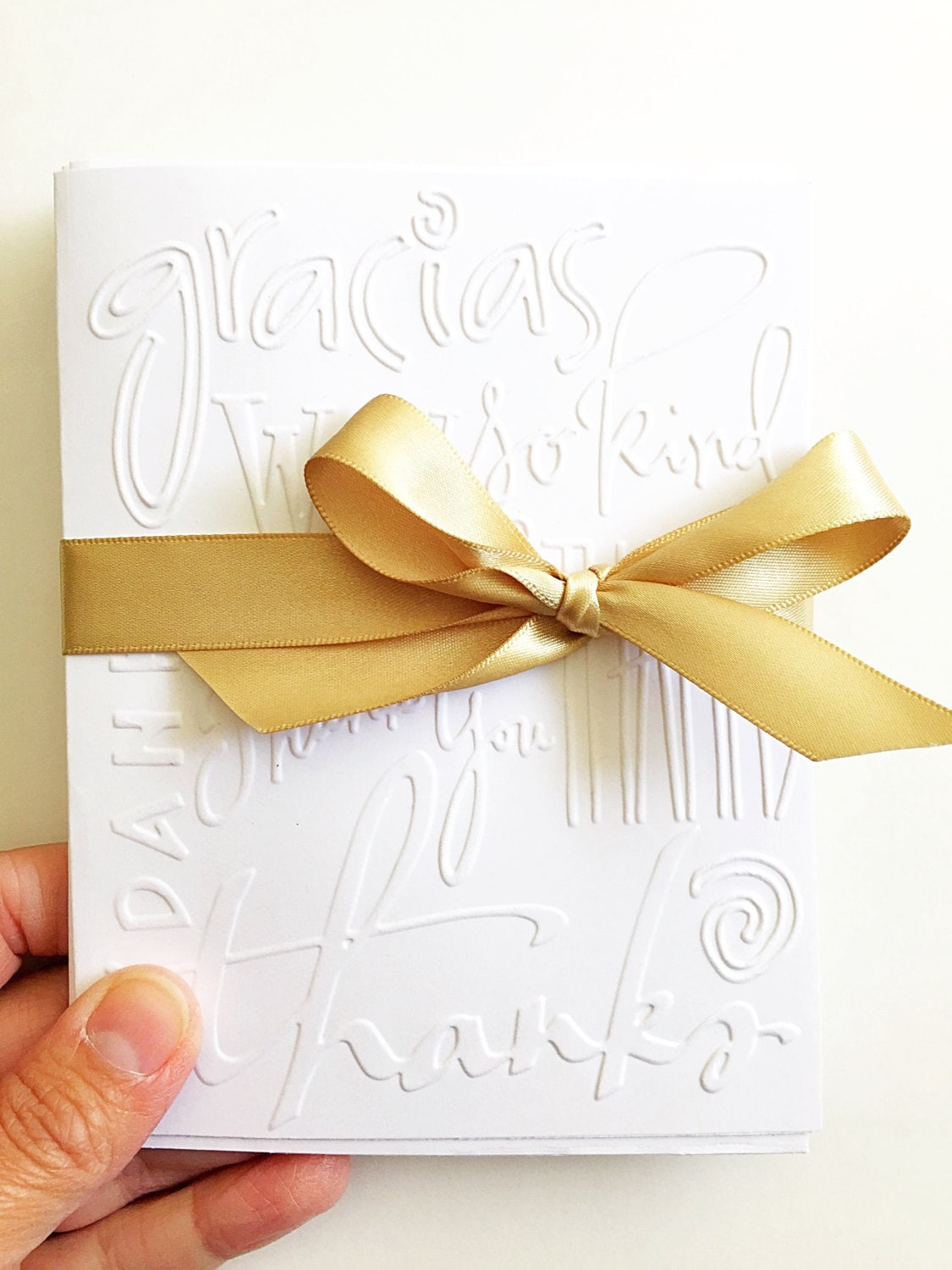 graphic about Embossed Stationery titled Embossed Thank Your self Playing cards. White Embossed Thank Oneself