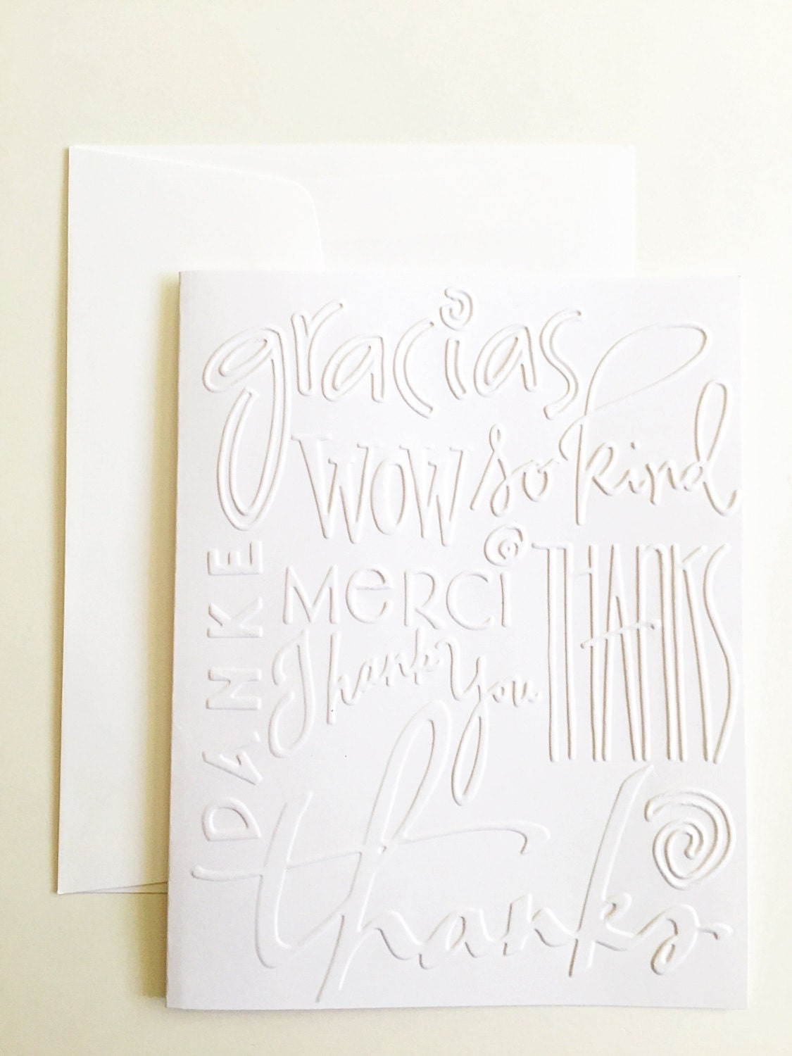 photograph regarding Embossed Stationery called Embossed Thank On your own Playing cards. White Embossed Thank By yourself Be aware