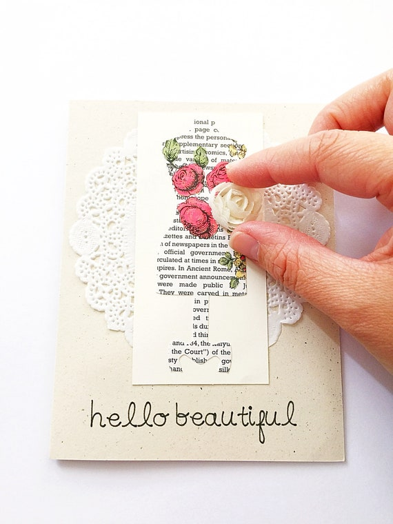 Hello Beautiful Card. Mothers Day Card For Friend. Card For Sister. Card For Bridesmaid. Floral, Feminine Card For Lady. Women's Day Card