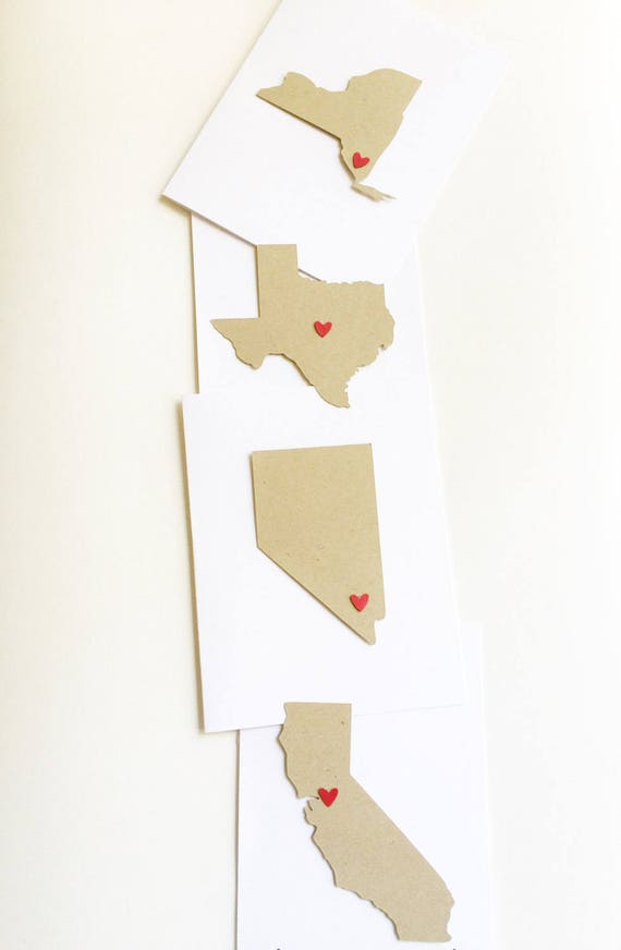 State Love Notecards. State Stationery. State Card. Travel Cards. Sending Love. Personalized Note. Thinking Of You Cards. Destination Cards