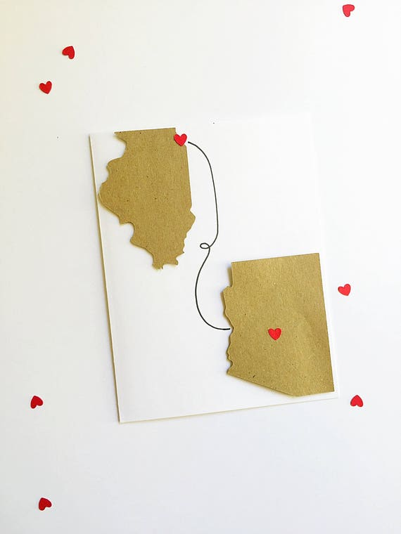 Long Distance Dad. Gift From Daughter. Father's Day Card. Dad Gift. Father Daughter Gift. Gifts for Him. States Card. Long Distance Card