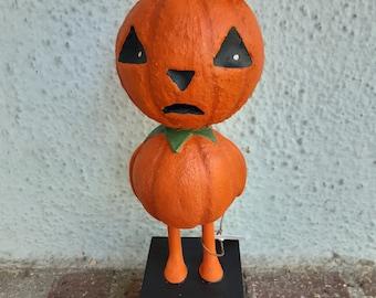 Bewildered pumpkin man