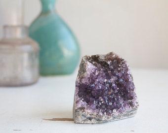 Small Amethyst Cluster, 2 inches tall, Dark Purple Amethyst, Boho Crystal Home Decor, Display Crystal, Desk Accessory, Druzy Decor