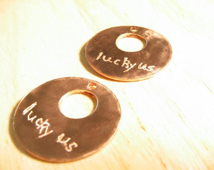 Featured listing image: Custom Engraved Metal Tag or Medallion: Buyer Chooses Metal