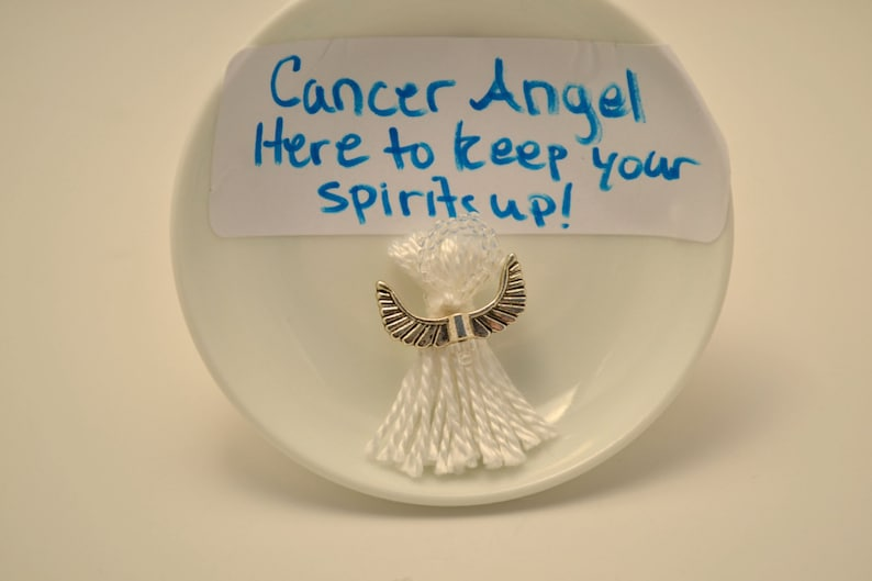 White Angel Charm for Lung Cancer Patients and Survivors image 0