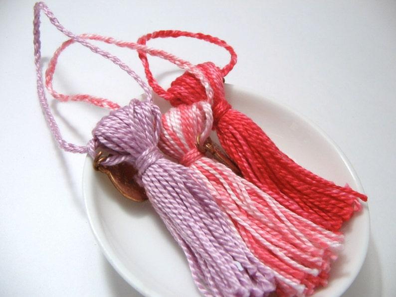 Clothing Tassel  Choose your Color  Children's Zipper image 0