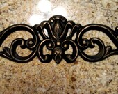 15.5 inches Metal Topper Wall Plaque Valance Pediment Old World Tuscan Metal Art Cabinet Hardware Kitchen Bathroom Sink