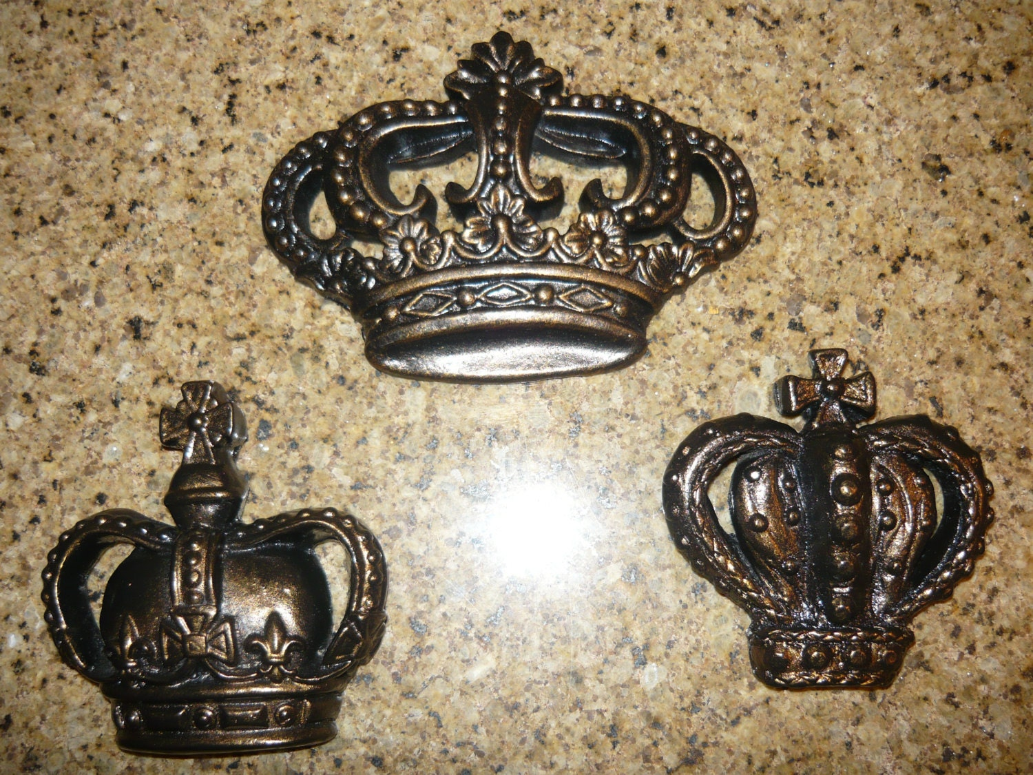 lovely King Crown Wall Decor Part - 12: Set of 3 Royal Crown Wall Plaques Wall Decor Old World | Etsy