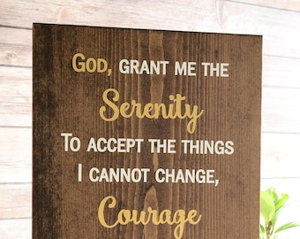 Serenity Prayer Wood Sign.