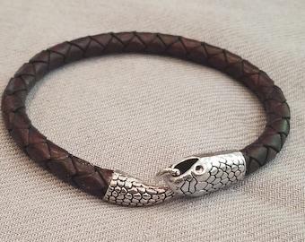 Tibetan Silver Curved Floral Fish /& Lotus Flower Wrap Bracelet Jasper Beads