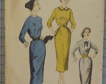 37915c4e8a Advance 6503 - 1950s One-Piece Chemise Dress - Size 12 Bust 30
