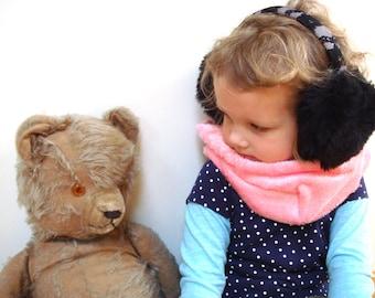 Faux fur ear muff, girl ear warmer, winter accessory, Christmas gift, toddler earmuffs, toddler girl, winter ear muffs.