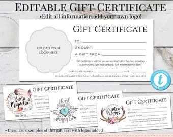 gift certificate etsy